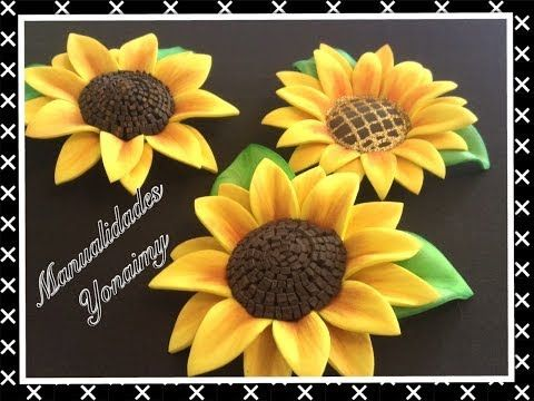 ▶ GIRASOLES HECHOS CON FOAMY O GOMA EVA - YouTube