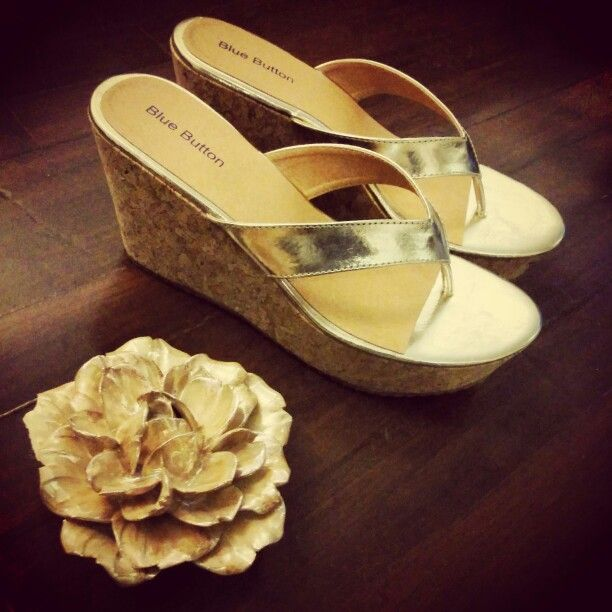 Gold wedges..