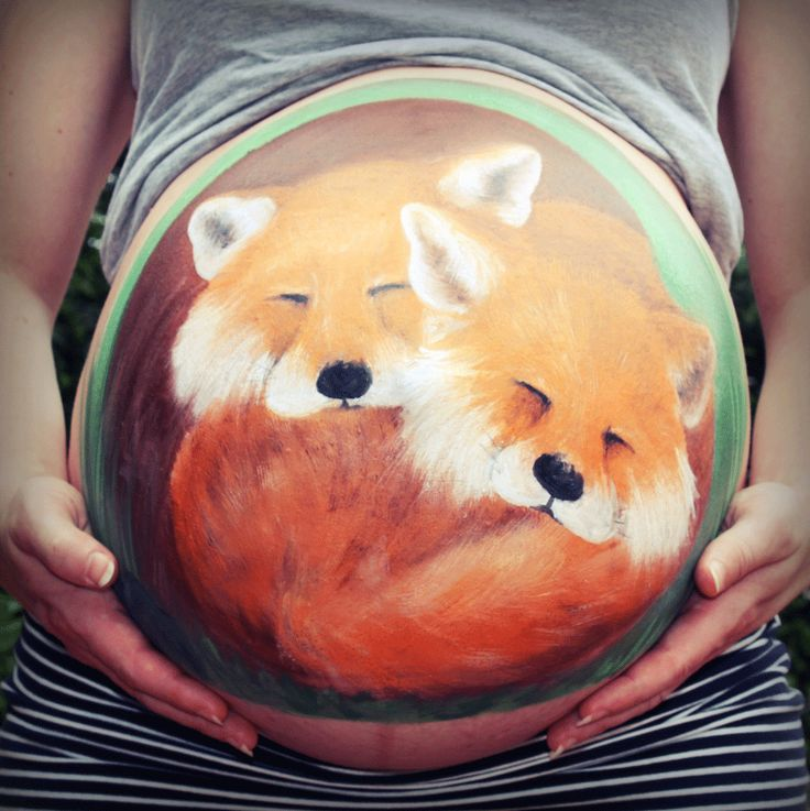 Completed-pregnancy-belly-painting