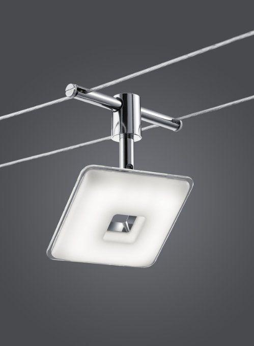 Trio Leuchten 775810506 Cable System, Metal, Chrome, 13.5 x 500 x 15 cm: Amazon.co.uk: Lighting