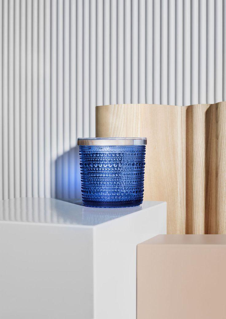Ultramarine blue – Glass colour of the year 2017 from Iittala. Kastehelmi jar.
