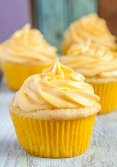 Easy Gluten Free Lemon Cupcakes, no mess, no fuss, all ingredients mixed in one bowl!  I would use real butter.
