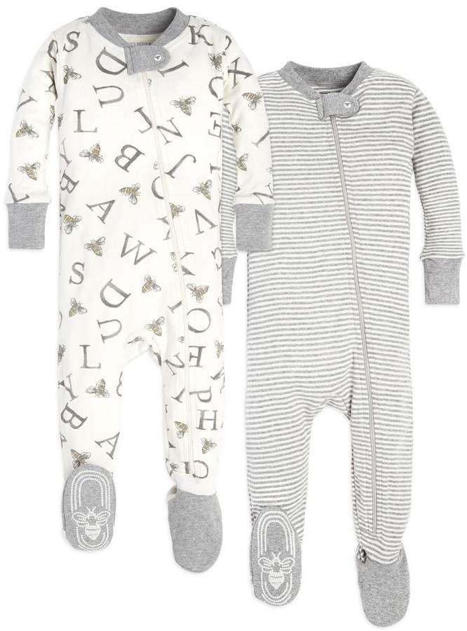 Essentials Unisex Baby Toddler Zip-Front Footed Sleeper Pajamas