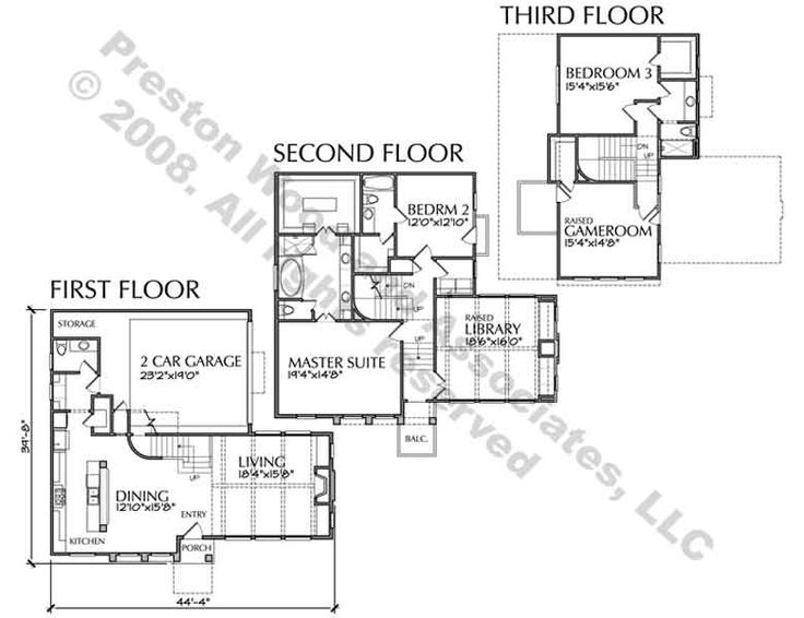 24 best townhome floor plans images on pinterest for Luxury townhouse plans