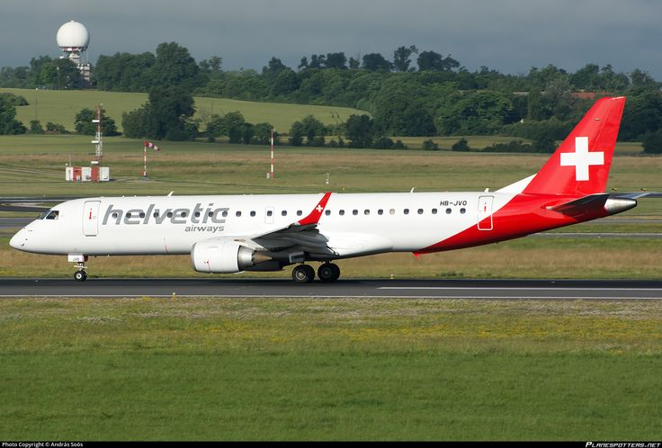 HB-JVO Helvetic Airways Embraer ERJ-190LR (ERJ-190-100 LR)