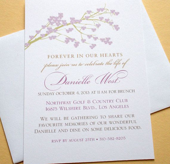 20 best Custom Funeral Memorial Order of Service Programs and - memorial service invitation wording