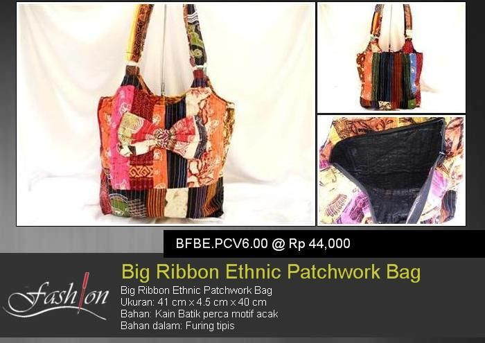 Big Ribbon Ethnic Patchwork Bag