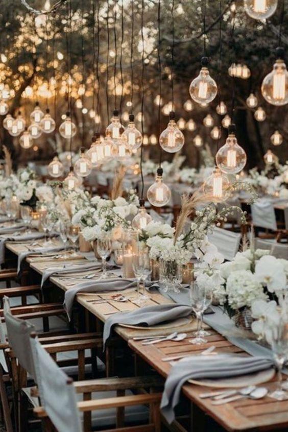 sweetheart table decor / candle centerpieces wedding