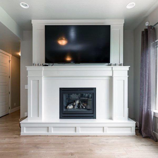 Top 60 Best Fireplace Mantel Designs Interior Surround Ideas Fireplace Mantel Designs Mantel Design Fireplace Mantels