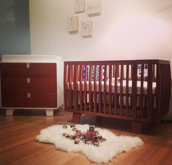 bloom Retro Crib & Dresser. #midcentury #modern #design #nurserystyle