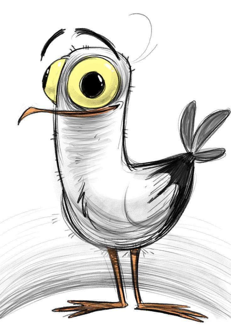Смешные рисунки животных птиц, открытка