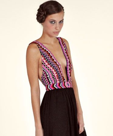 Oh, hi.  Did I mentioned I love me some Mara?  Mara Hoffman, Beaded Open Back Gown, $840.