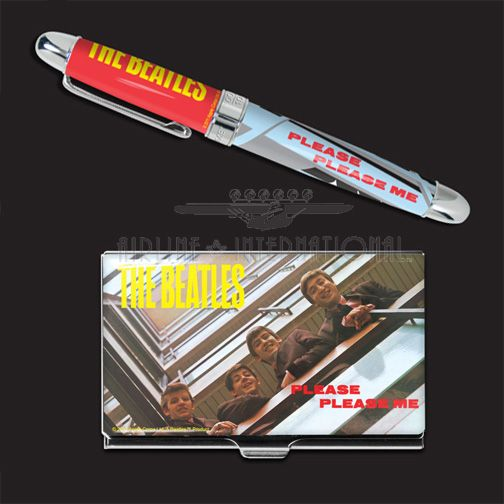 ACME Beatles Please Please Me Pen and Card Case Limited Edition Set | Airline International Luggage | Luggage, pens and gifts. #beatles #please #me #collectible #pen #cardcase #set