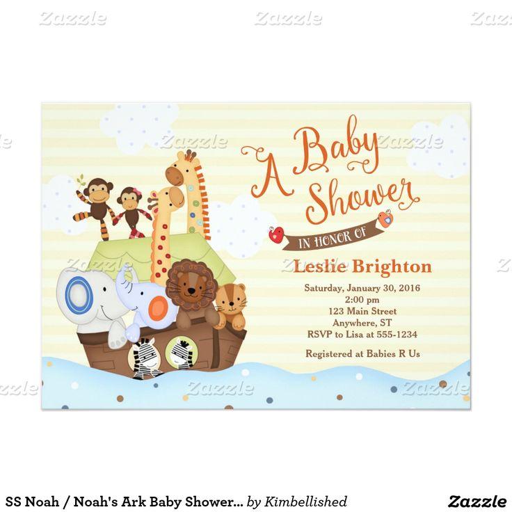 ss noah noah 39 s ark baby shower invitation babies shower