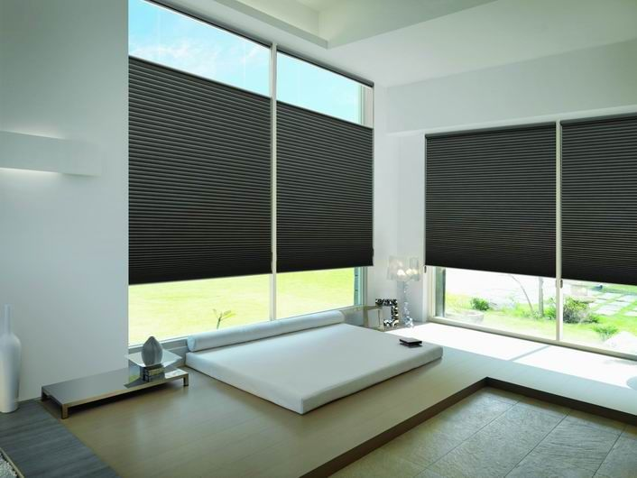 Luxaflex Duette Architella Shades are made from Anti-Static, dust-resistant Polyester, making them easy to clean