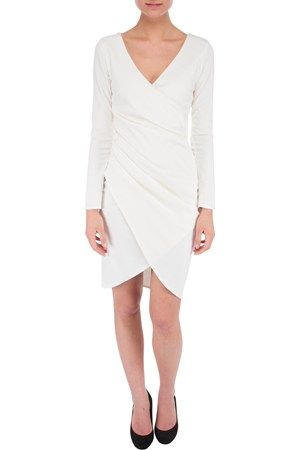 Draped dress bianco