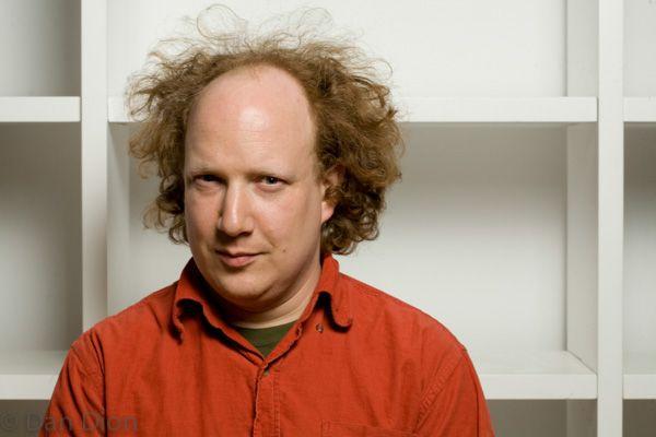 Portrait of British satirist Andy Zaltzman by photographer Dan Dion.