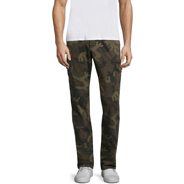 True Religion ??lim Fit Cargo Pants ($179) ❤ liked on Polyvore featuring men's fashion, men's clothing, men's pants, men's casual pants, mens slim fit camo pants, mens slim camo pants, mens camouflage pants, mens camo pants and mens camouflage cargo pants