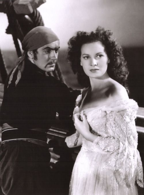 Tyrone Power and Maureen O'Hara in The Black Swan (Henry King, 1942)
