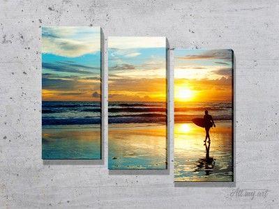 Модульные картины с океаном. #картина #модульнаякартина #декор #интерьер #дизайнинтерьера #уют #атмосфера