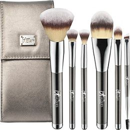 Only at ULTA! IT Brushes For ULTA Your Superheroes Full-Size Travel Brush Set includes Unstoppable Powder, Seamless Foundation, Effortless Crease, Smoothing Concealer, Absolute Shadow and Flawless Liner & Brow brushes. A $100 value!.