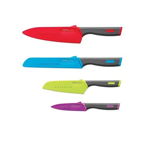 Orii 8 Piece Master Prep Knife Set Including Sheaths Ruby Red Chef Ice Specialty