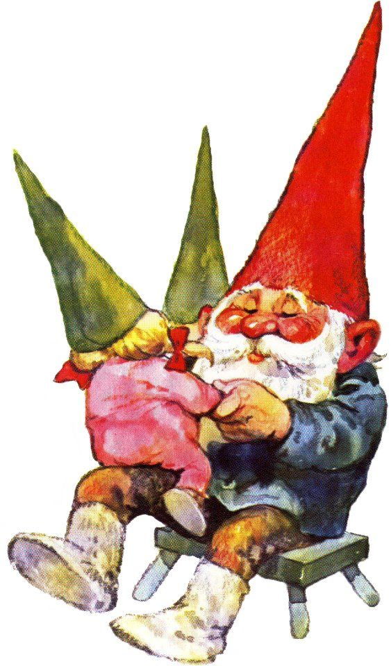 Gnome daddy playing with his little girl. ^u^