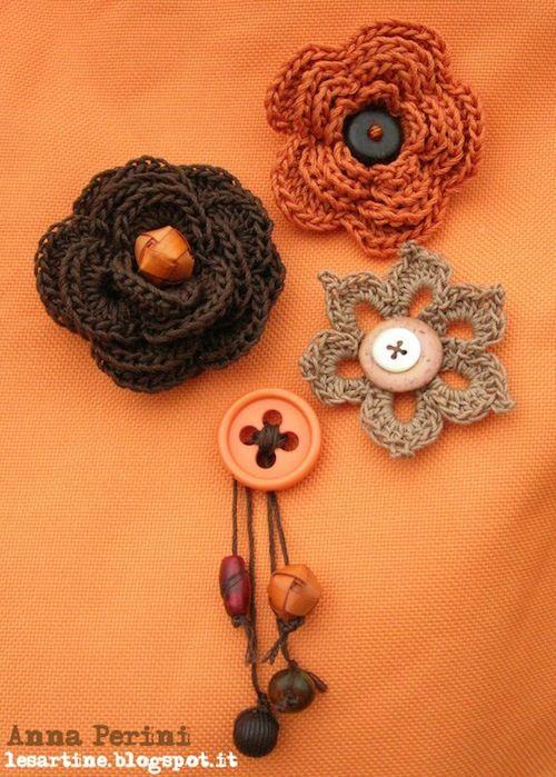 Crochet Flowers - Diagrams - Not written in English