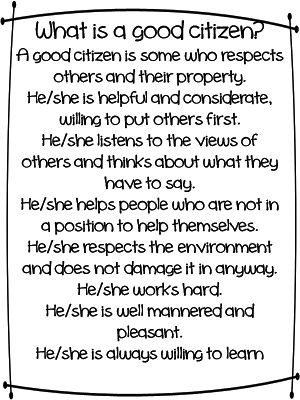 essay on the qualities of a good citizen Over the years i have found 10 qualities in students that make them good students to me a good student is not always the student that gets an a.
