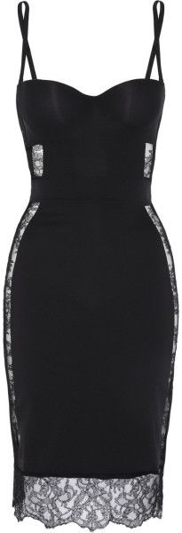 Shape Allure Lacetrimmed Stretchjersey Slip - LA PERLA  dressmesweetie darling -perfect under a LBD