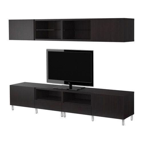 BESTÅ TV storage combination - black-brown - IKEA