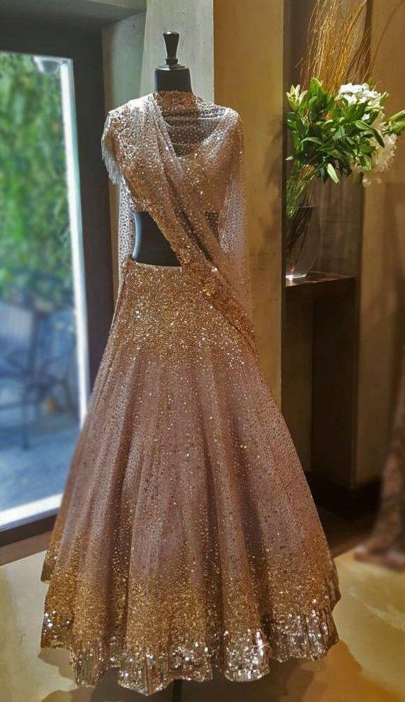 By designer Manish Malhotra. Bridelan - Personal shopper & style consultants for Indian/NRI weddings, website www.bridelan.com #ManishMalhotra #receptionlehenga #Bridelan #BridelanIndia.