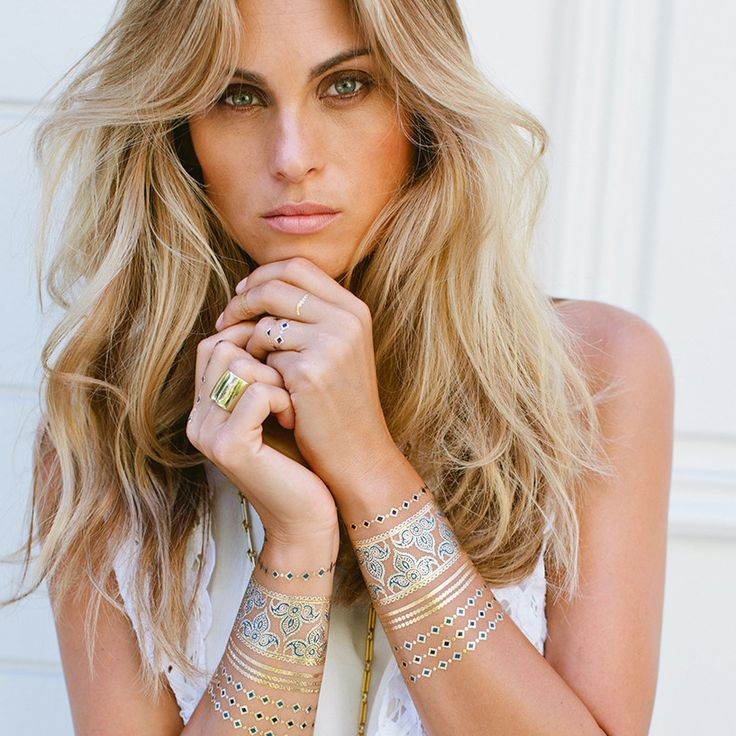 Metallic Tattoos, A Girls Best Friend – Bikini Luxe #luludk