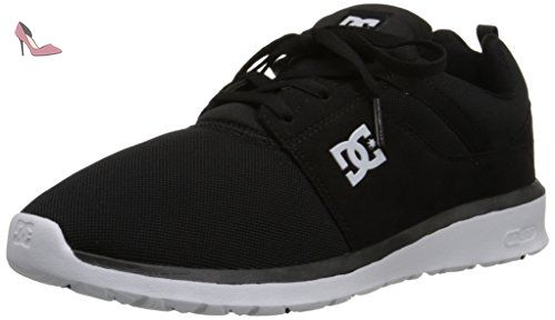 DC Shoes Men's Heathrow Sneakers Low Top Shoes, Black (bkw), 12 - Chaussures dc shoes (*Partner-Link)