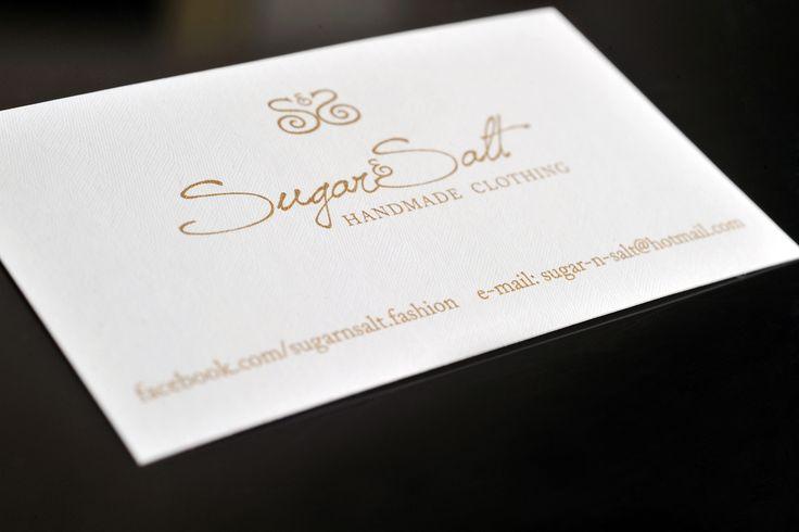 Fox Creative. Σχεδιασμός λογοτύπου και κάρτας για την Sugar & Salt. / Logo design and business card for Sugar & Salt.