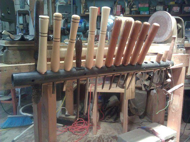 Wood Lathe Tool Rack Woodworking Workbench Shop And Garage