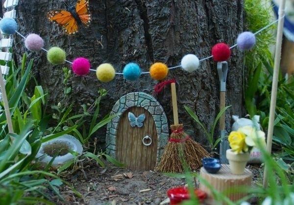 DIY fairy house garden tree garden decoration ideas