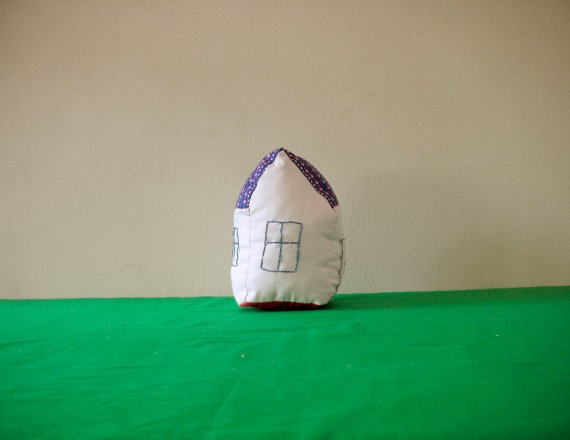 House Pillow Pink  toy for children and by ConstructiveLaziness, €15.00