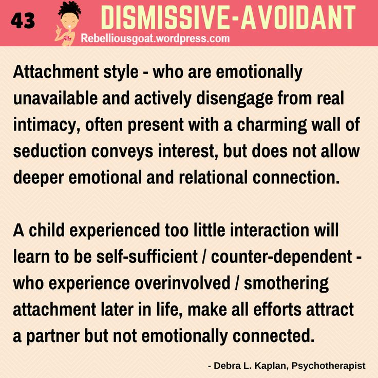 Dating avoidant personality