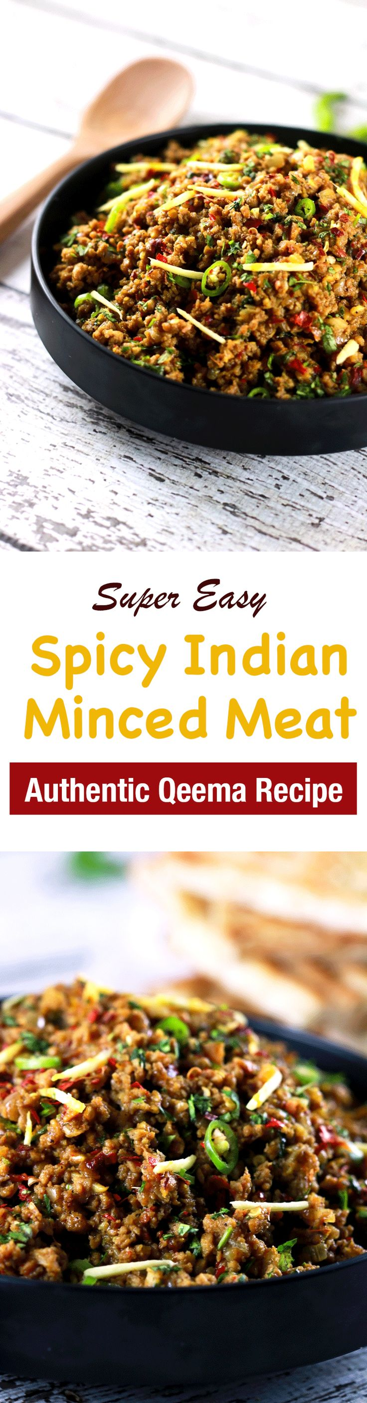 This CLASSIC authentic Indian minced meat Qeema recipe is so delicious, it'll become a regular at your house!! | ScrambledChefs.com