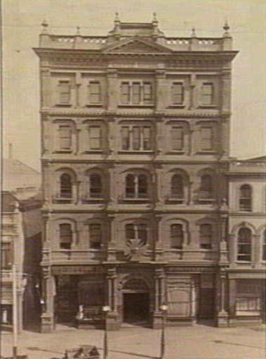 The Melbourne Coffee Palace, 89 Bourke St, 1880s - via SLV