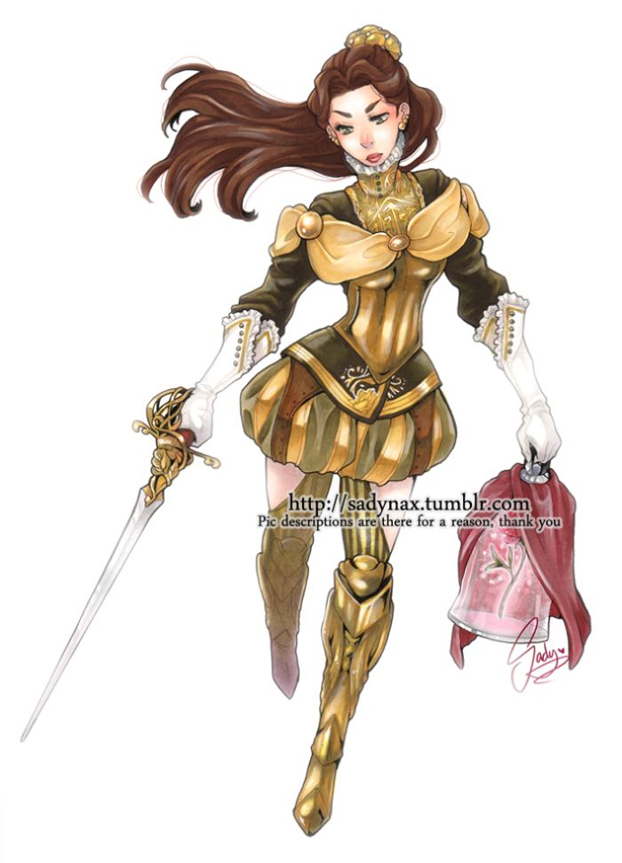 Your favorite Disney princesses as RPG characters. Final Fantasy af. via sadynax