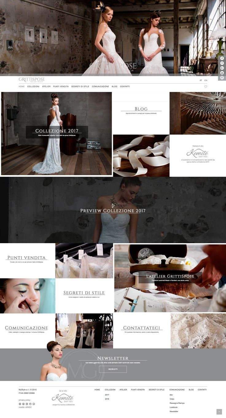 Sito web @grittispose  creato da effADV -   #website, created by effADV - #webdesign #graphicdesign #weblayout #web #graphic #weddingdress #photography