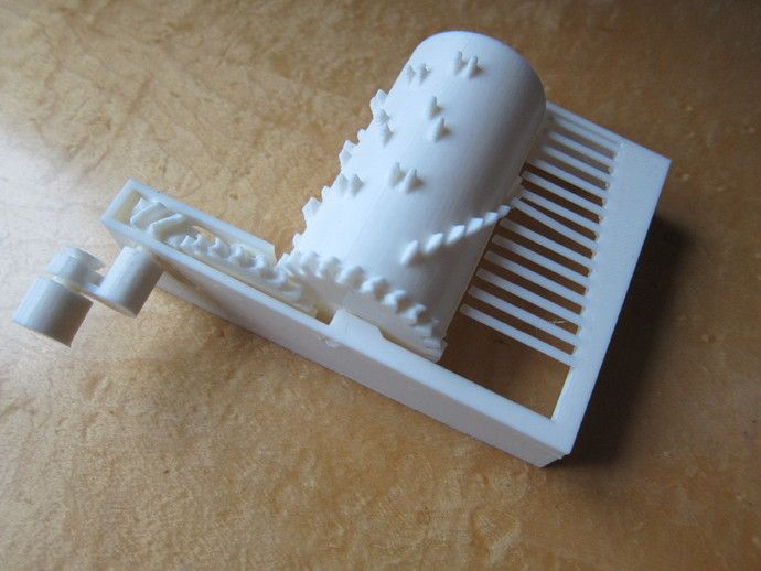 Models for fully printable parametric music box. 3D printer.