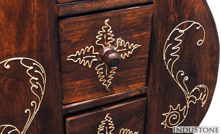 STOJAK GITARA na płyty CD z drewna egzotycznego, INDUSTONE