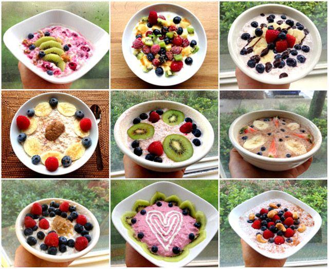 Overnight Oats – 1 dl melk 1 dl mager kesam/ gresk yoghurt 1,5 dl havregryn Søtning etter smak - steviadråper, steviapulver, sukrinmelis etc.  Bland sammen ingrediensene, og tilsett evt. det lille ekstra for å få smak på grøten. Hvis du bruker proteinpulver i, så må du tilsette litt ekstra væske. Hell blandinga over i en skål, dekk til med plast og la den stå minst 6 timer kaldt. Rør litt før du spiser den, og ha evt. over valgfri topping.