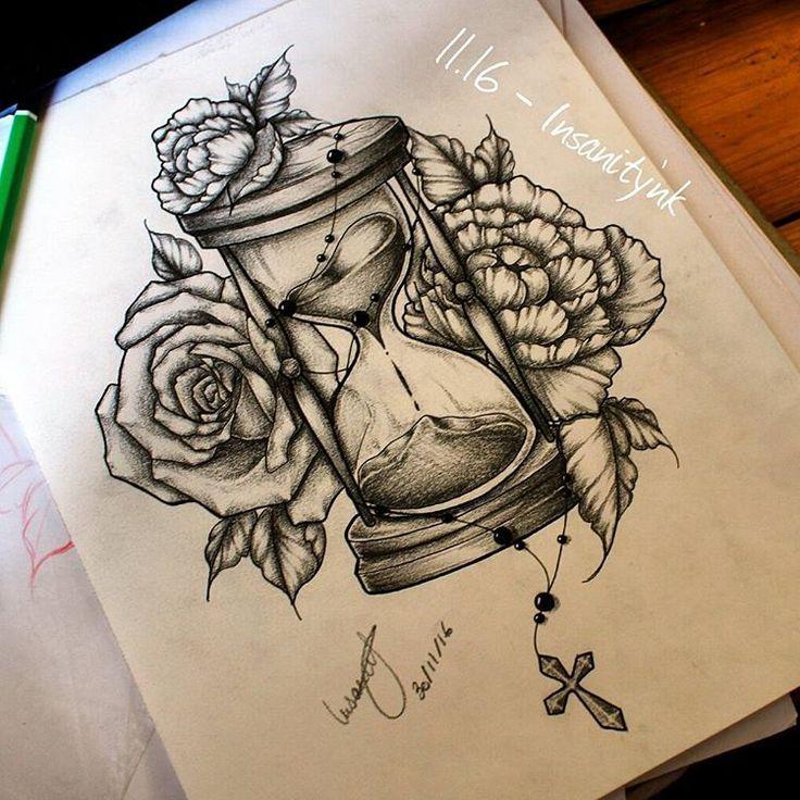 Resultado de imagen de flower rosary draw tattoo