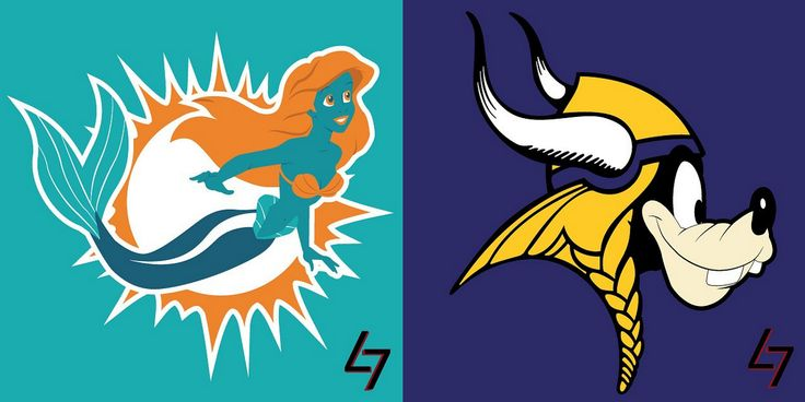 Minnesota Vikings New Logo | All 32 NFL Logos Mashed up with Disney Characters ...