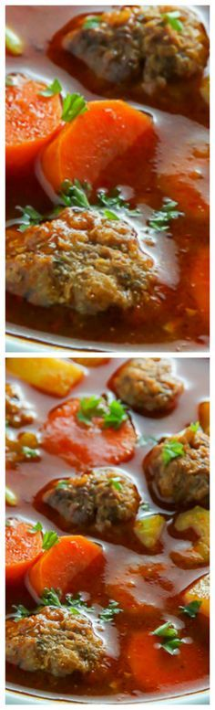 Italian Meatball Soup ~ Perfect for nights you want hearty comfort food fast!
