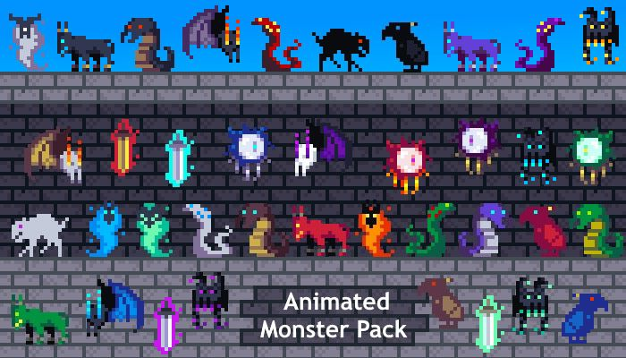 Animated 2D Monster Pack